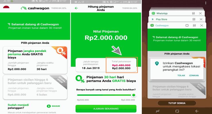 cara kerja cashwagon, prosedur pinjaman uang online di cashwagon